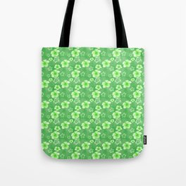 Green Hibiscus Honu Hawaiian Pattern Tote Bag