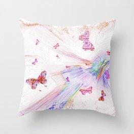 """""""Flash Dream ~ Butterflies"""" Throw Pillow"""