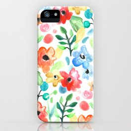 Flourish - Watercolor Floral iPhone Case