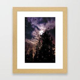 Sky & trees Framed Art Print