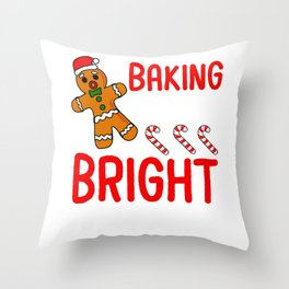 Baking Spirits Christmas Throw Pillow