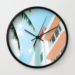 Miami Fresh Summer Day Wall Clock