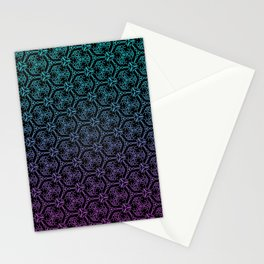 chain link - blue and purple mandala pattern Stationery Cards