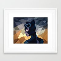 dc comics Framed Art Prints featuring DC Comics Catwoman by Eric Dufresne