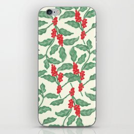 Coffee Plant Pattern iPhone Skin