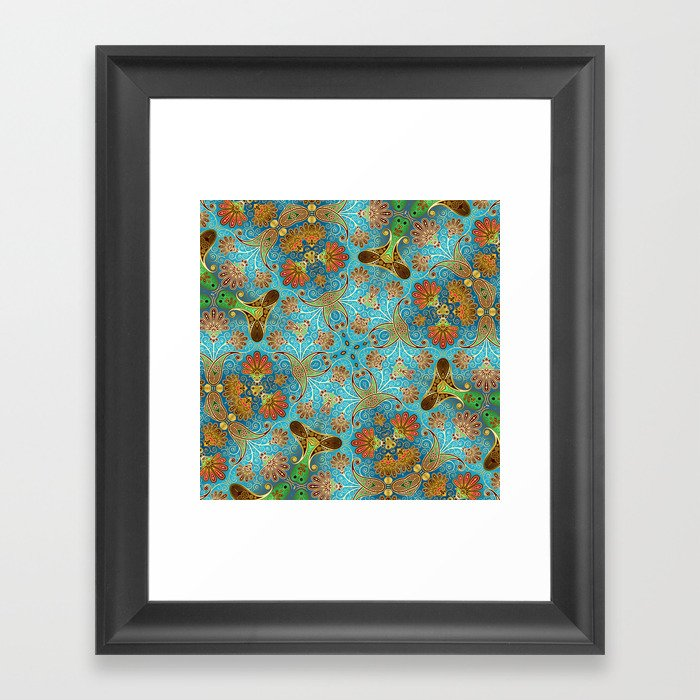 Indian Floral Framed Art Print