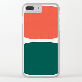 Two ovals Clear iPhone Case