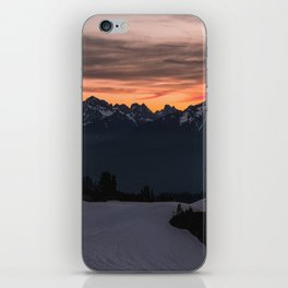 Rising Sun in the Cascades - nature photography iPhone Skin