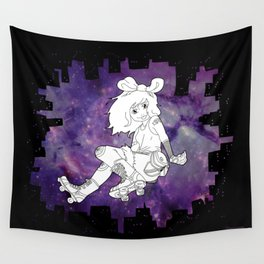 Skater Gal Wall Tapestry