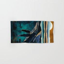 Moonlit Whales Hand & Bath Towel