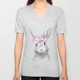 Spring bunny Unisex V-Neck