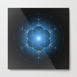 Ice space | Sacred geometry Metal Print