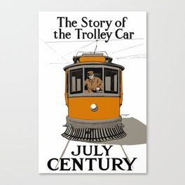 The Story Of The Trolley Car - Vintage Advertising Canvas Print