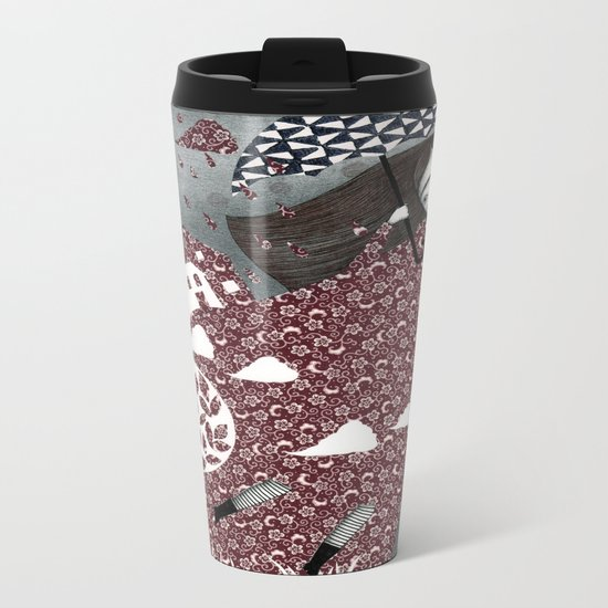 Clouds in July, Raindrop Sky Metal Travel Mug
