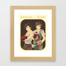 Spain & Romano Framed Art Print