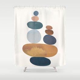 Balancing Stones 31 Shower Curtain
