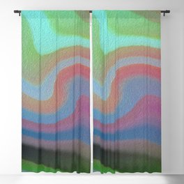 She Swims Abstract Blackout Curtain