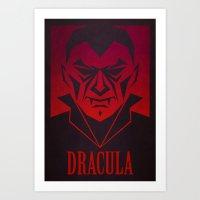 dracula Art Prints featuring Dracula by CoryFreemanDesign