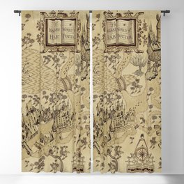 The Wizard world of Hogwarts Blackout Curtain