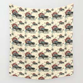The Road So Far Vintage Wall Tapestry
