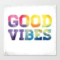 good vibes Canvas Prints featuring Good Vibes by dan elijah g. fajardo