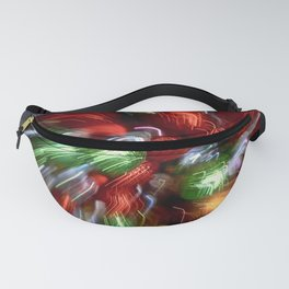 Abstract Red & Green Motion Blur Fanny Pack