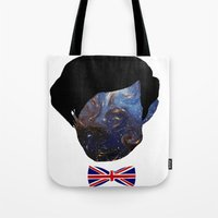 the who Tote Bags featuring Who? by FOREVER NERD