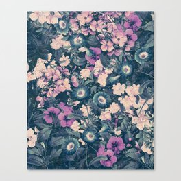 Floral Nights Space Dreams Canvas Print