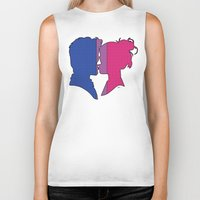 bisexual Biker Tanks featuring Bisexual Love by Winter Graphics