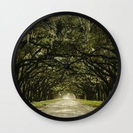 Spanish Moss Canopy Wall Clock