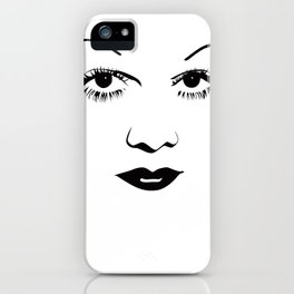 Old Hollywood - Jean Harlow iPhone Case