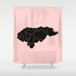 Honduras map Shower Curtain