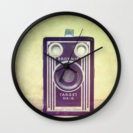Vintage Camera Love: Cross-Processed Kodak Brownie Target Six-16! Wall Clock