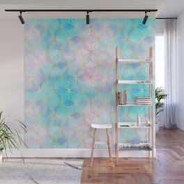 Iridescent Glass Geometric Pattern Wall Mural