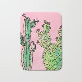 Woman and man cactus Bath Mat