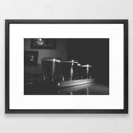 Beer Flight #3 Black and White Framed Art Print