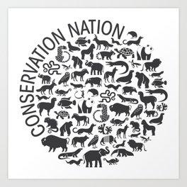 A Circle of Animals Art Print
