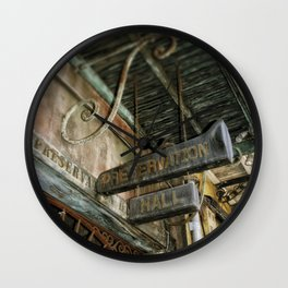 Preservation Hall Wall Clock