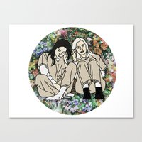 oitnb Canvas Prints featuring OITNB Floral by MODERN UNDERGROUND