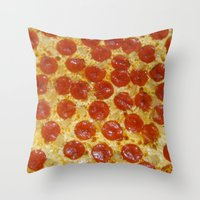 pizza Throw Pillows featuring Pizza by Katieb1013