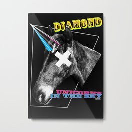 Diamond Unicorn Metal Print