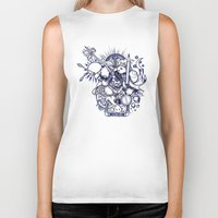 doodle Biker Tanks featuring Doodle by Puddingshades