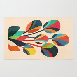 Ikebana - Geometric flower Rug