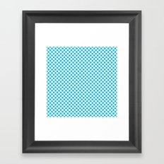 Cyan Vivid Arctic Blue Dots 2cb9d9 Contemporary Modern Décor Framed Art Print