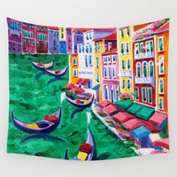 italy Wall Tapestries featuring Venice, Italy by BOYAN DIMITROV
