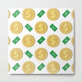 Dollar pattern background Metal Print
