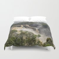 geology Duvet Covers featuring Beautiful Barron Falls by Wendy Townrow