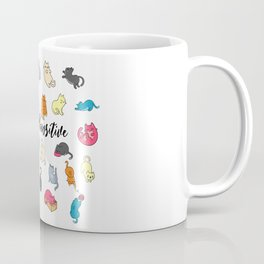 Cats Stay Positive - Motivation Design Coffee Mug
