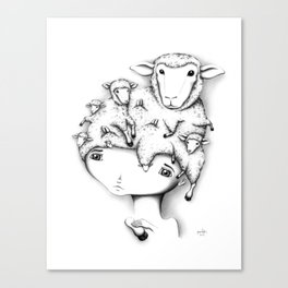 Merino Mutation Canvas Print