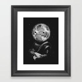 Moonalisa Framed Art Print